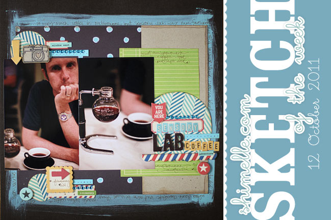 scrapbooking sketch and scrapbook page ideas