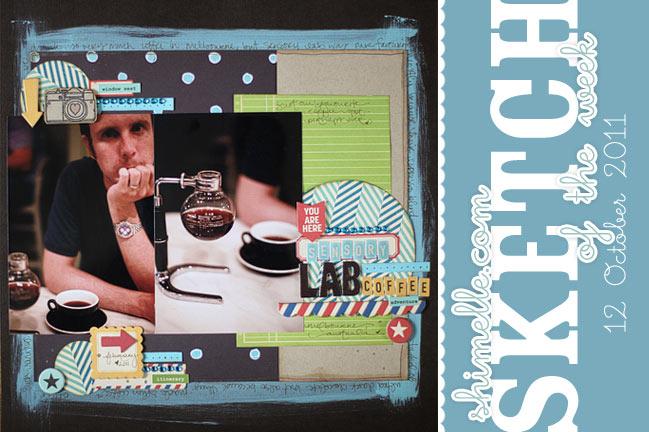 scrapbooking sketch and scrapbook page ideas