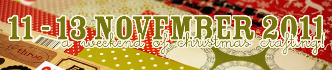 online christmas crafting and scrapbooking weekend
