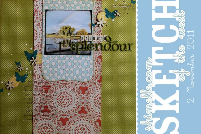 Scrapbook Page Sketch by Shimelle Laine