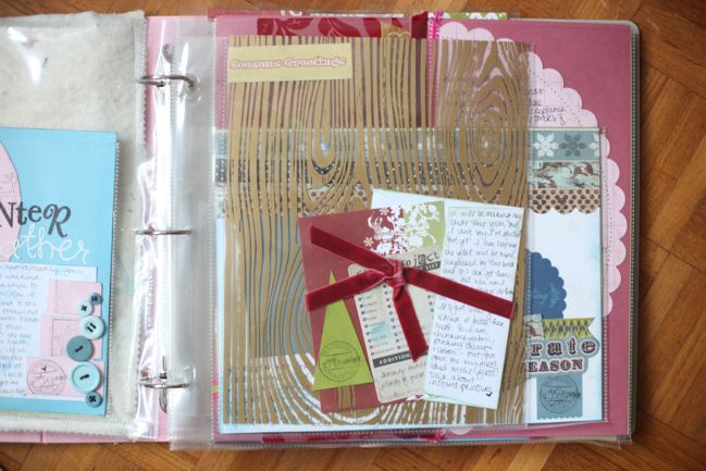 journal your christmas scrapbook page