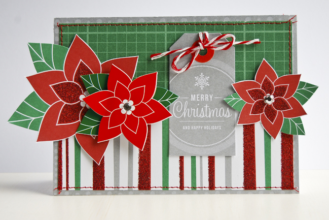 christmas card tutorial by pam brown @ shimelle.com