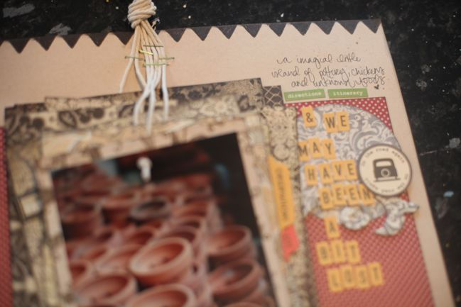 scrapbook page detail