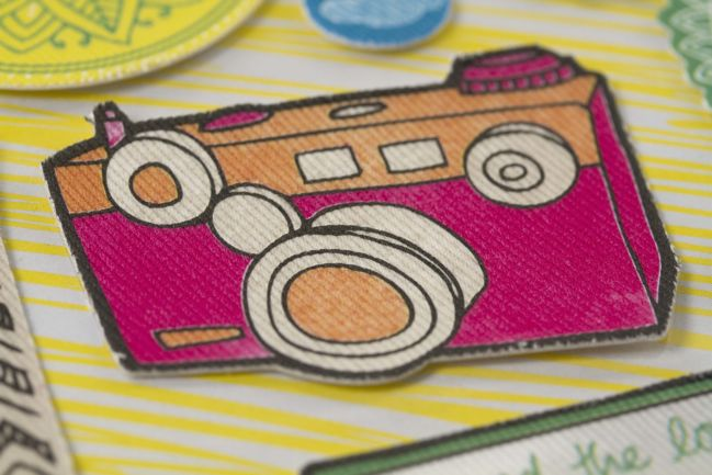 camera canvas sticker :: amy tangerine sketchbook sneak peek