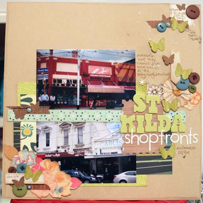 scrapbook page makeover