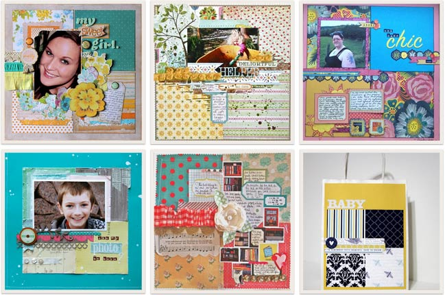 scrapbook pages from starting points