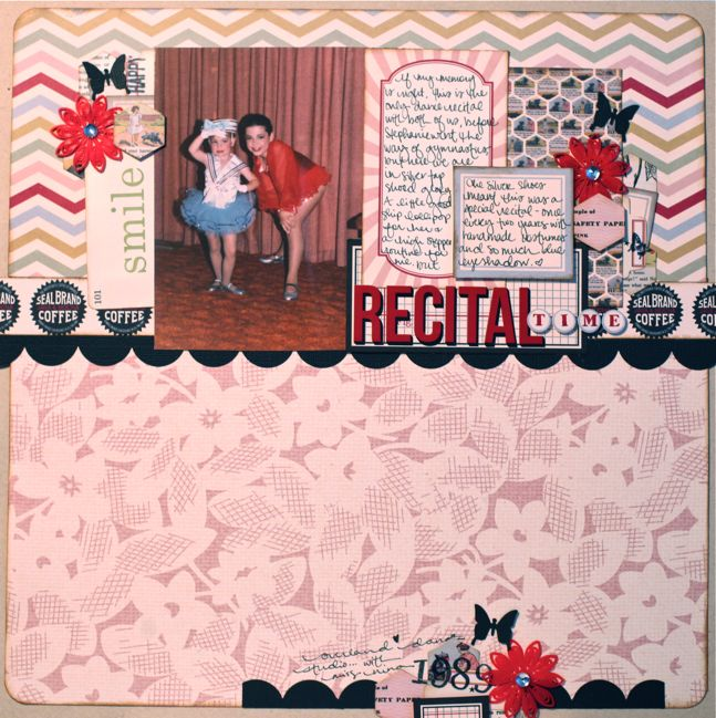 scrapbook page from starting point