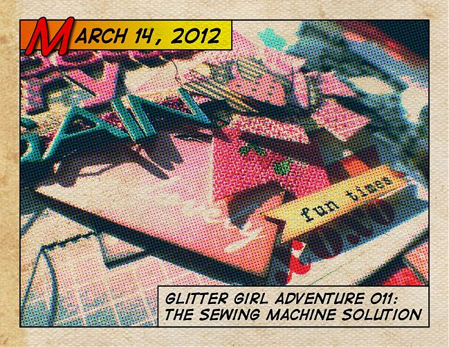 glitter girl adventure 11: the sewing machine solution