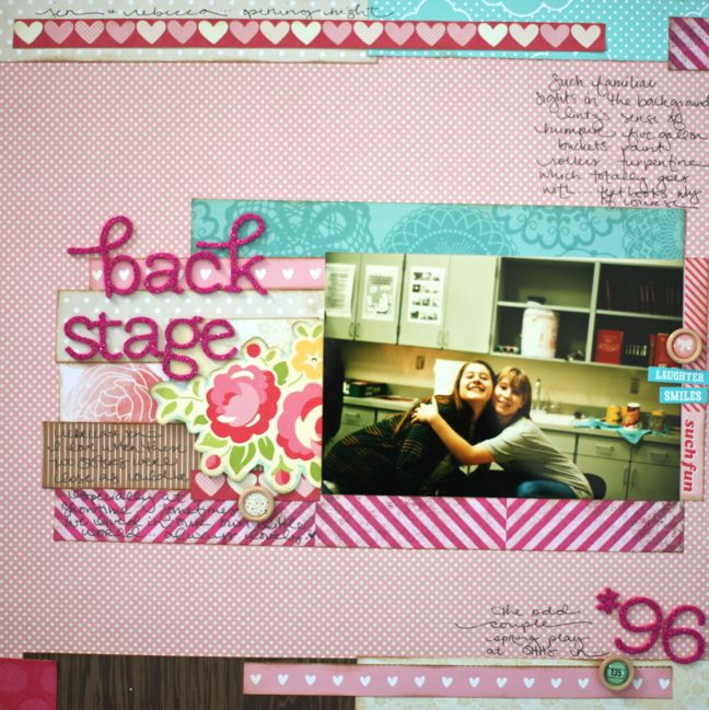 scrapbook page made from scraps