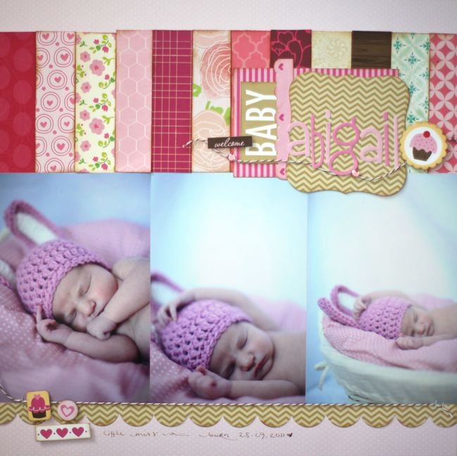 shimelle scrapbooking layout using scraps 1