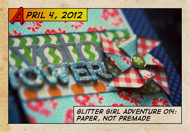 glitter girl makes embellishments from patterned paper - scrapbooking video