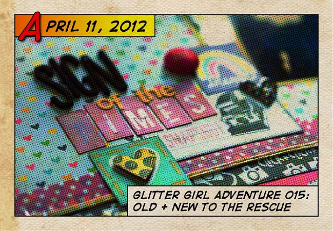 Glitter Girl and scrapbooking with old supply favourites - scrapbooking video