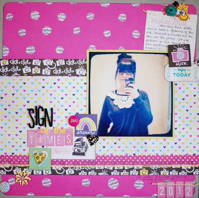 weekly challenge: Mix old scrapbooking stash with new favourites @ shimelle.com