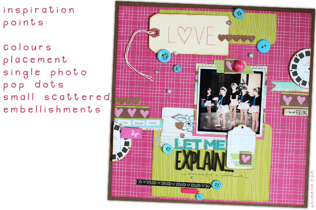scrapbook page by shimelle laine