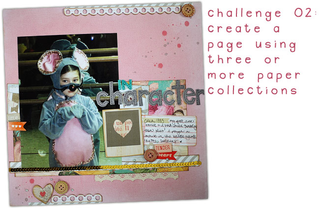 scrapbooking challenge :: mixing paper collections