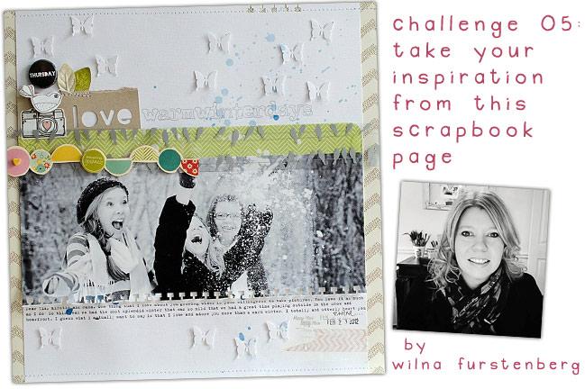 scrapbooking challenge :: inspired by wilna furstenberg
