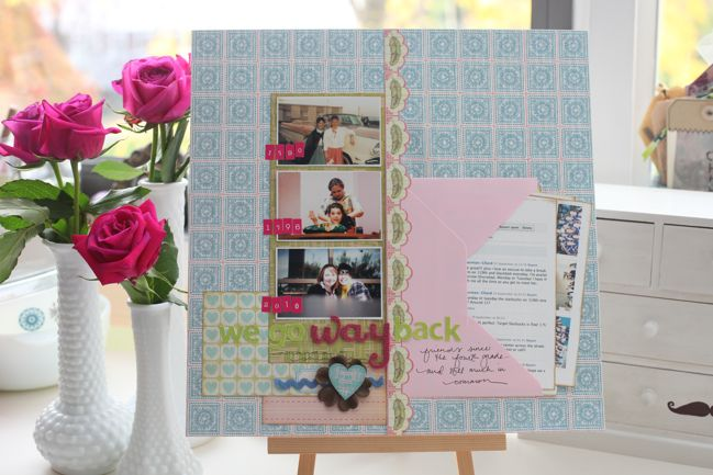 scrapbook page with envelope