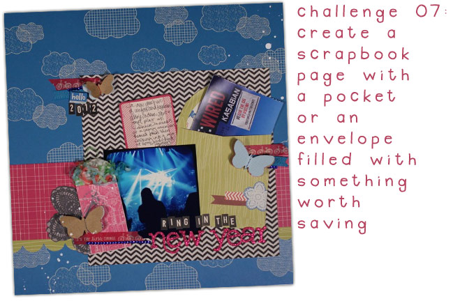 scrapbooking challenge :: pockets and envelopes