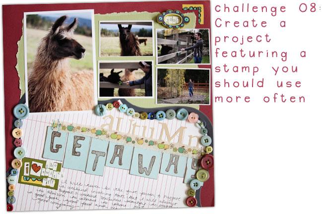 scrapbook stamping challenge