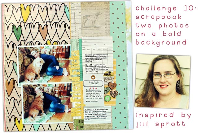 scrapbooking challenge inspired by jill sprott