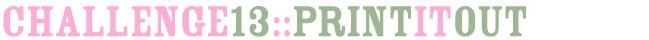 scrapbooking challenge :: free printable