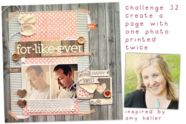scrapbook challenge inspired by amy heller