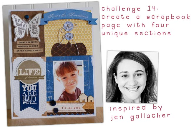 scrapbooking challenge inspired by jen gallacher