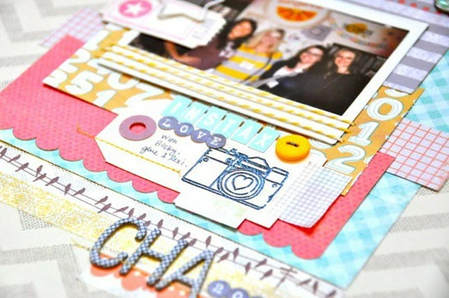 scrapbook page by amy tan