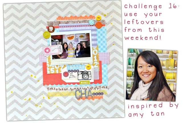 scrapbooking challenge inspired by amy tangerine