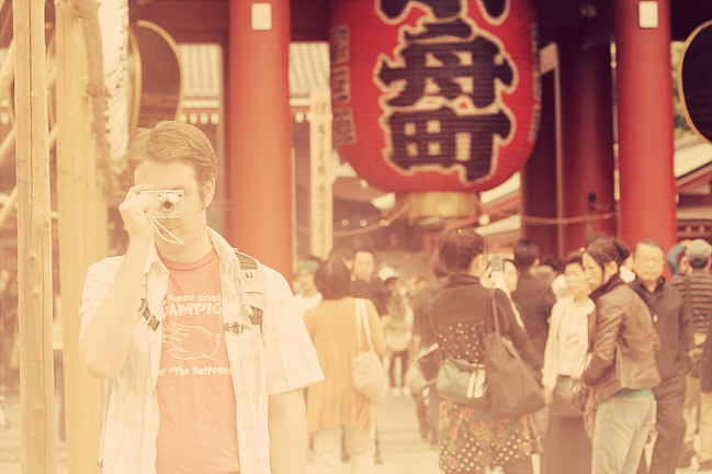 taking pictures in tokyo