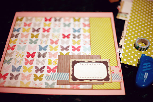 scrapbooking starting point