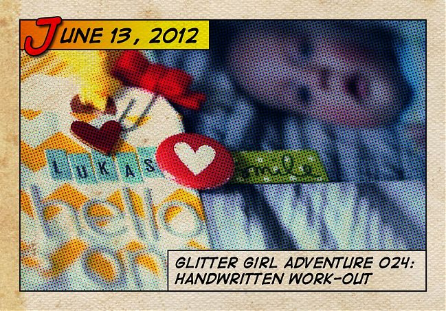Glitter Girl's tips for handwriting on scrapbook pages