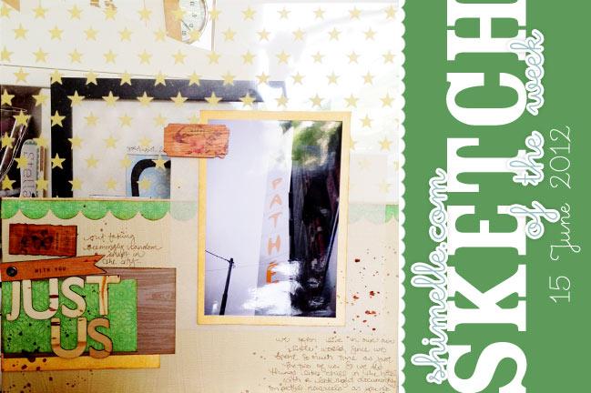scrapbook page sketch
