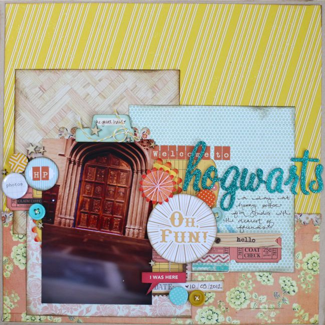 weekly challenge: scrapbook about a favourite book // harry potter scrapbook page by shimelle laine