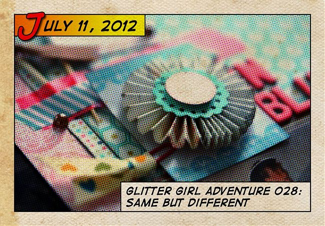 Glitter Girl and scrapbooking with ribbon and washi tape
