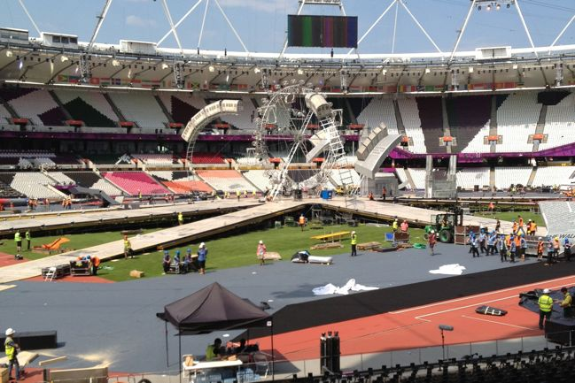 building the set for the london 2012 closing ceremony