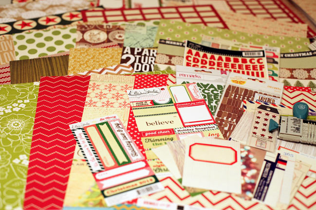 christmas scrapbooking supplies