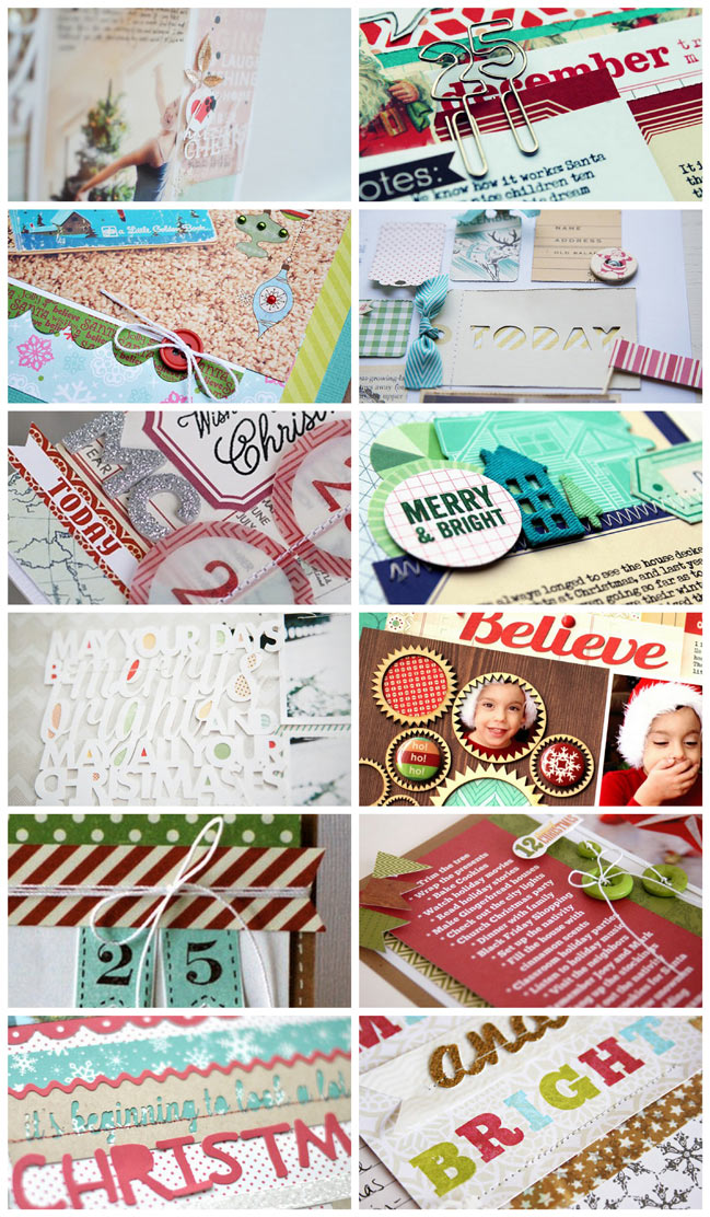 scrapbook pages by the garden girls
