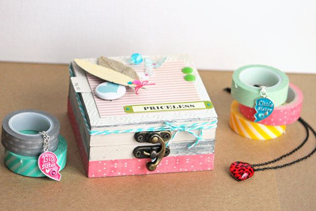decorated feather jewelry box by angie gutshall @ shimelle.com