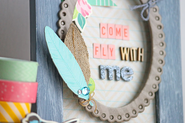 five ideas for crafting with paper feathers by angie gutshall @ shimelle.com
