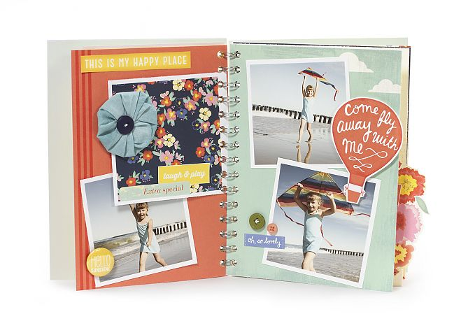 Dear Lizzy Lucky Charm Daybook scrapbook