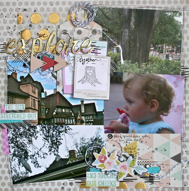 scrapbook page by ashli oliver @ shimelle.com