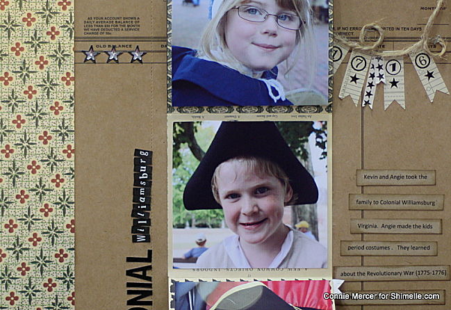 scrapbooking tutorial by Connie Mercer @ shimelle.com