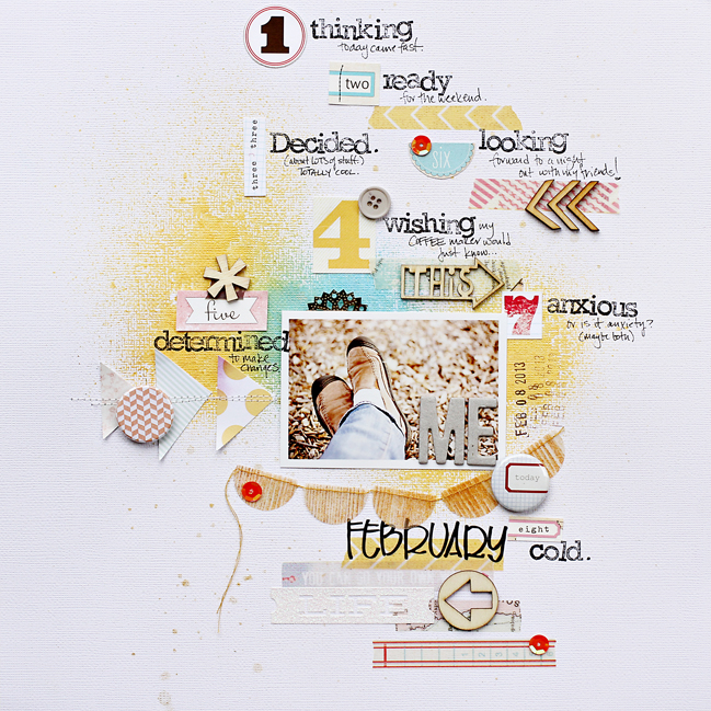 scrapbooking tutorial by Corrie Jones @ shimelle.com