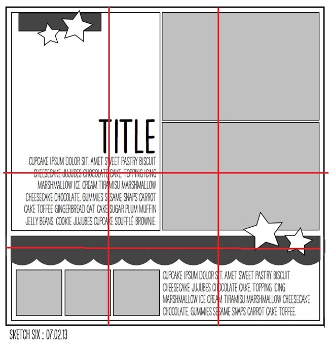 scrapbooking sketch guidelines for Project Life @ shimelle.com