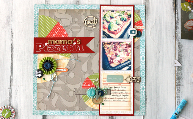 scrapbooking tutorial by Leah Farquharson @ shimelle.com
