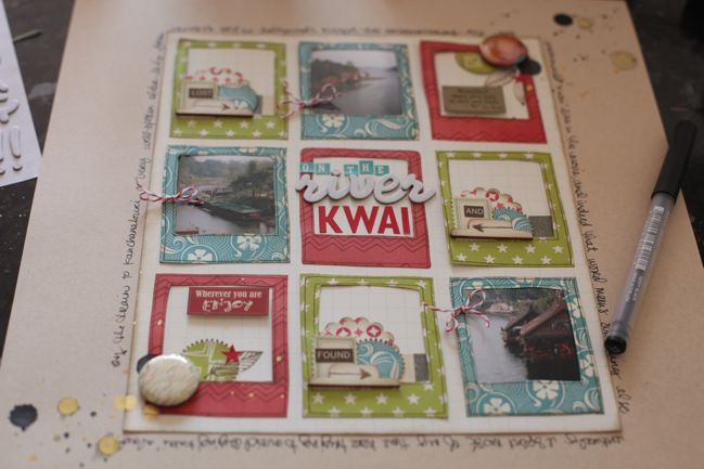 weekly challenge: Stamp a Frame // scrapbook page by Shimelle Laine