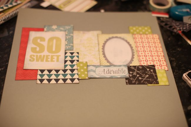 making scrapbook pages from paper scraps by shimelle laine @ shimelle.com