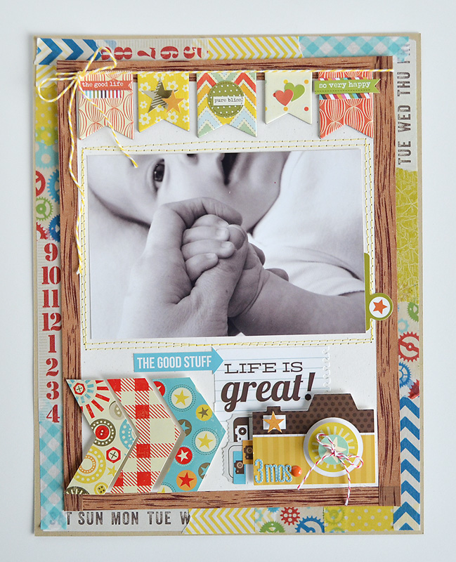 Double Washi Tape Frame Tutorial by Wendy Sue Anderson @ shimelle.com