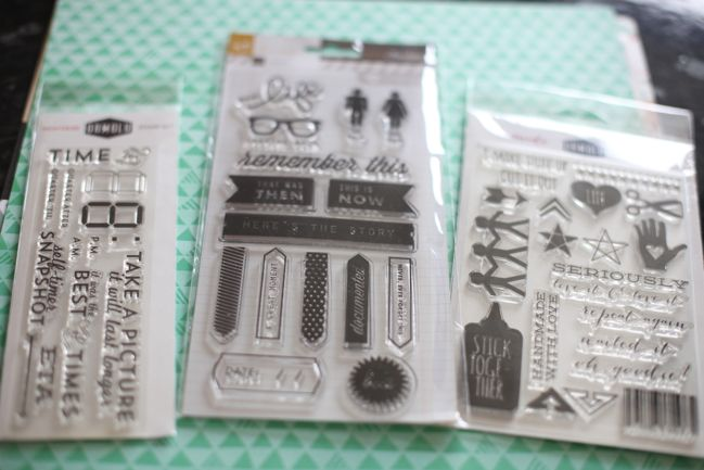 scrapbooking supplies - stamps